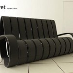 Bewitched Velvet Ribbon Sofa