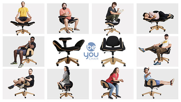 BeYou Chair – Transformable Chair with 10+ Ways You Can Sit