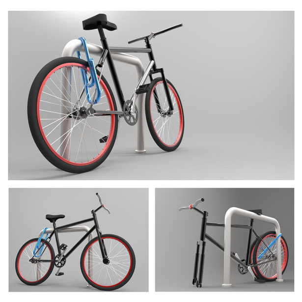 Biclip Bicycle Lock by Mohsen Darvish