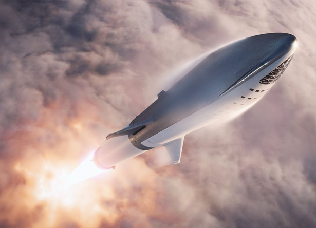 Big Falcon Rocket Futuristic Spaceship Concept by SpaceX