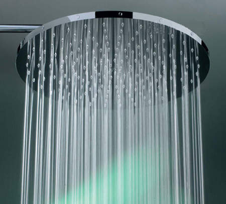 feel the private rain with huge shower head from fornara