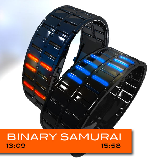 Binary Samurai Watch Concept