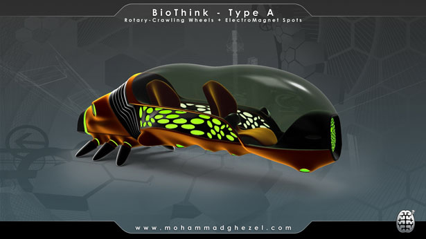 BioThink Futuristic Vehicle by Mohammad Ghezel
