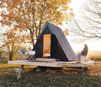 Bivvi Cabin – Affordable, Sustainable A-Frame Cabin for Outdoor Enthusiasts