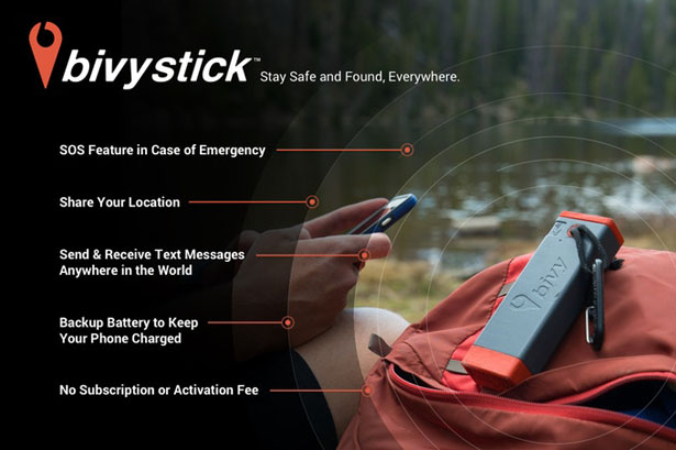 Bivy Stick Satellite Communication Device
