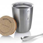 Black+Blum Thermo Pot Features Biodegradable Cork Lid and Stainless Steel Spoon