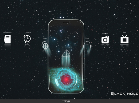 black hole concept phone