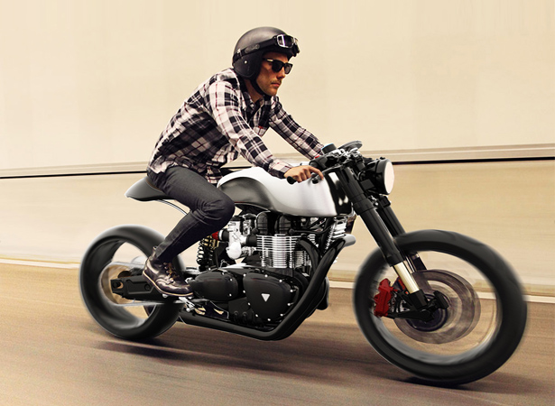 Black Shadow H-E Concept Motorcycle With Hydrogen-Electric System