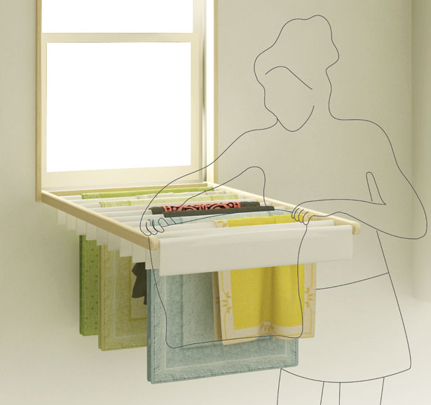 Blindry Window Blind and Laundry Rack by Kim Bobin and Ko Kyungeun