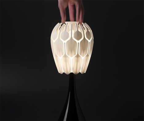 Bloom Table Lamp Blossoms Like A Flower by Patrick Jouin