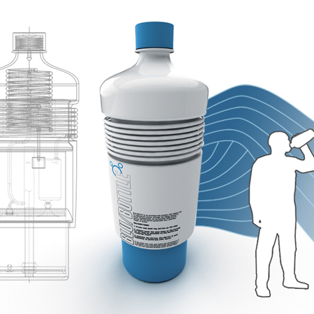 With Innovative Blu Bottle Concept, You Don't Need to Refill Again !