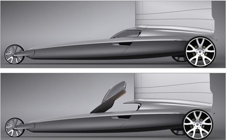 Blue Dynamic Land Yacht Gives The Feel Of Luxury Yacht On A Sporty Roadrunner