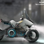 BMW 1150GEth Tesla Motion : Futuristic Concept e-Bike Inspired by A Video Game