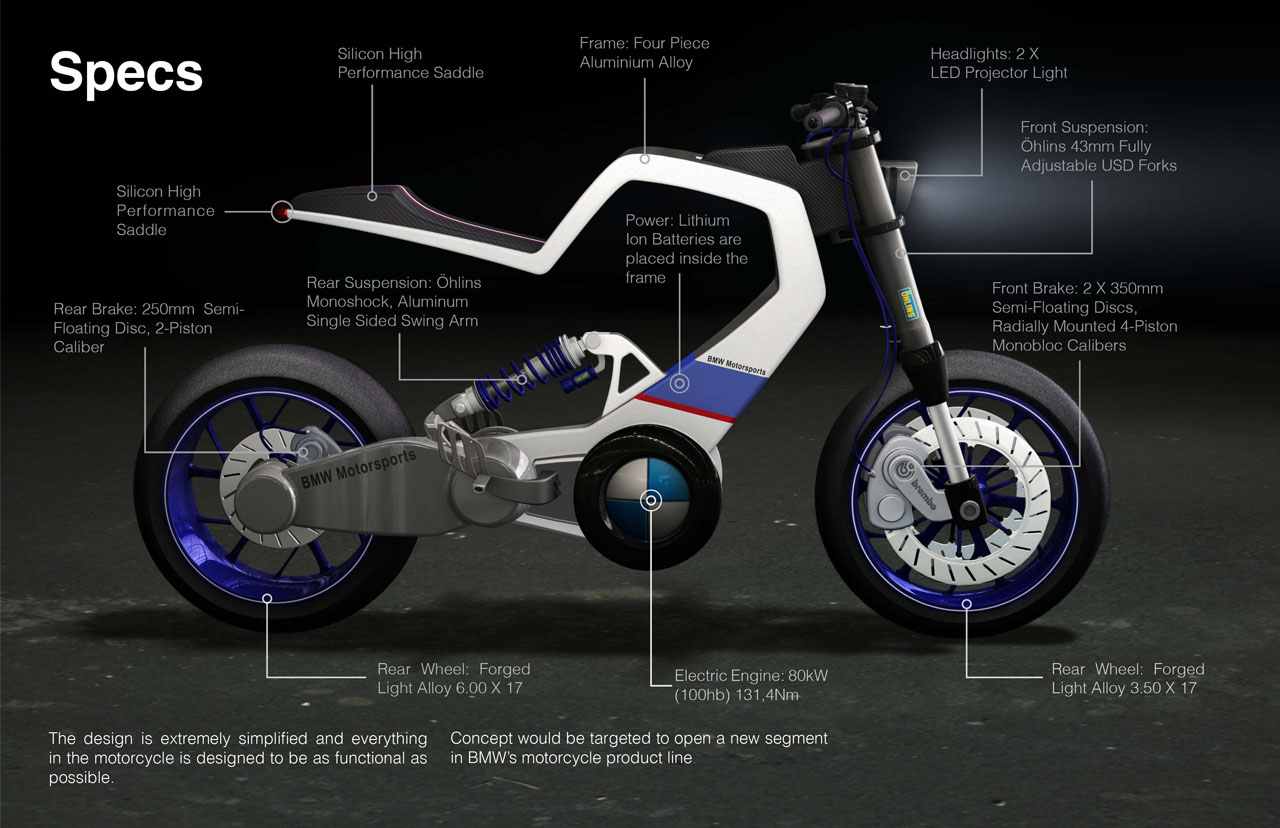 Bmw E100r A Vision Of Future Electric Motorcycle Tuvie Front Wheel Bikes 2 Project By Miika Mahonen