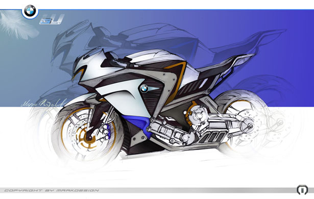 BMW Ghost Sports Bike by Marko Petrovic