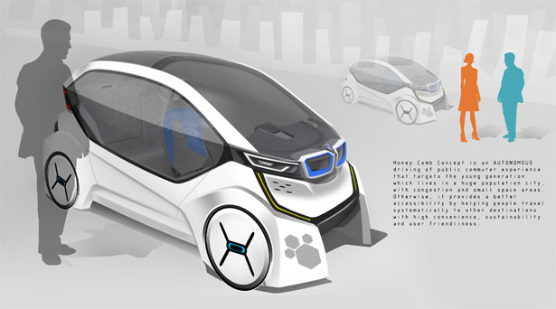 BMW Honey Comb Concept Car with Electromagnetic System