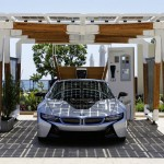 BMW i : Solar Carport Concept with Glass-on-Glass Solar Modules