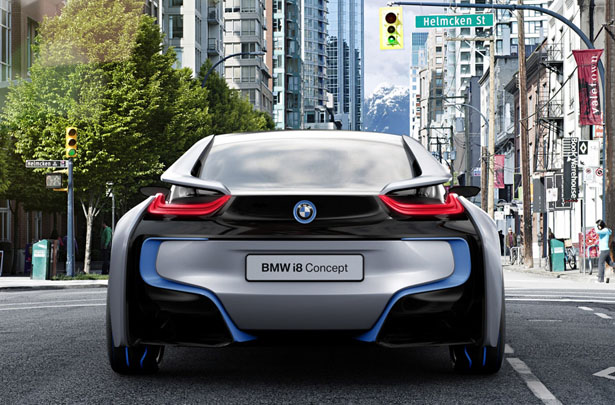 Bmw I8 Concept Combines High Performance Of A Sports Car With Fuel