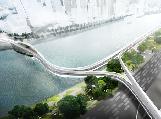 BMW Vision E³ Way Elevated Road for Electric Bikes