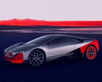 "BMW Vision M NEXT Concept Hybrid Car Features ""EASE"" and ""BOOST"" Driving Modes"