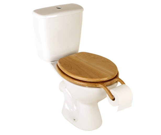 Bog Standard Toilet Seat Roll Holder by Henry Franks
