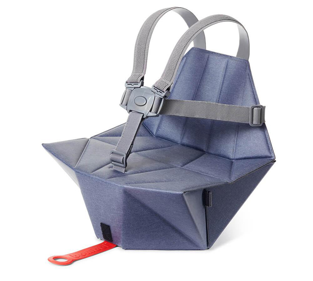 Bombol Pop-up Booster offers Sturdy Seat and Folds Flat When not In Use