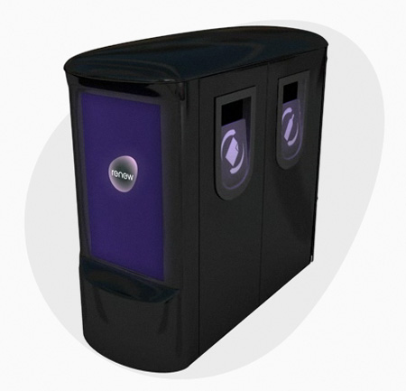 """""""Bombproof Bins"""" with LCD Screen Diplaying Informations by RenewSolution"""