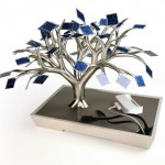 PhotonSynthesis is A Bonsai Tree with 54 Mini Photovoltaic Leaf Panels