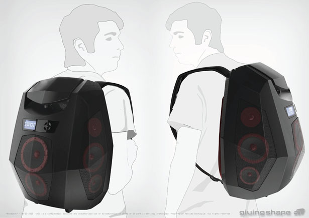 Boompack Boombox Backpack by Massimo Battaglia