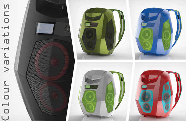 Boompack : Boombox Backpack Concept by Massimo Battaglia
