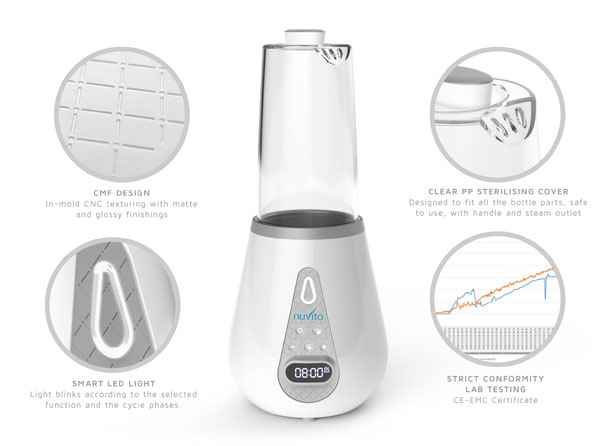Bottle Warm Concept Proposal for Nuvita Baby by Marco Schembri