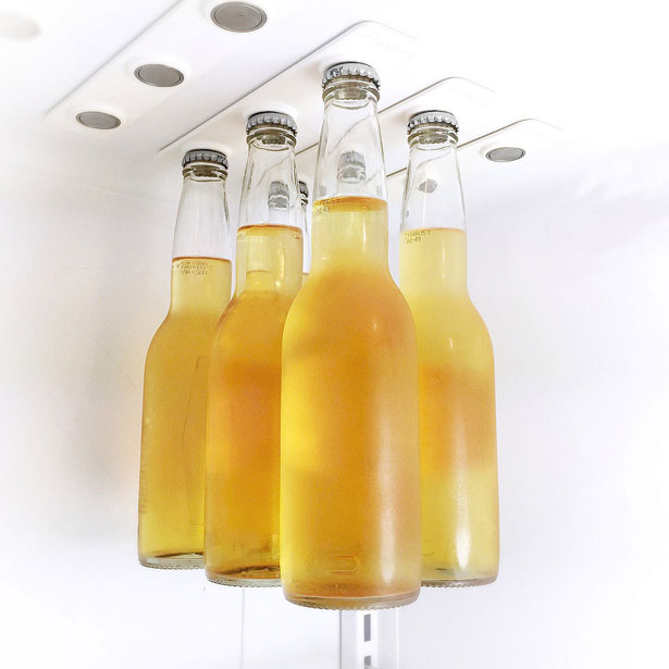BottleLoft Magnetic Strips Hold Beverage Bottles in A Cool Way