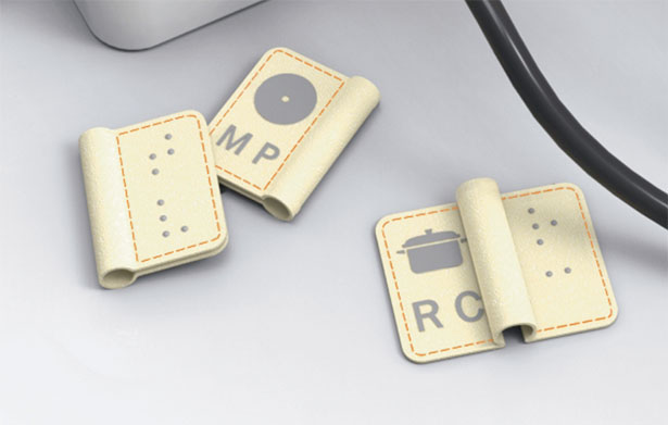 Braille Electric Plug Tags by Chen Shuwen