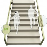 Braille Staircase Handrail to Navigate Visually Impaired People While on Walking Up or Down Stairs