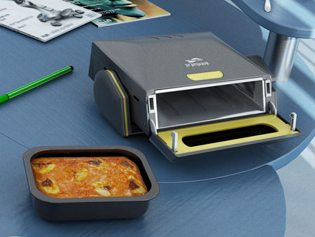 Brainwave Desktop Microwave Oven Heats Your Meals On Table
