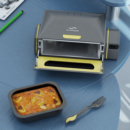 BrainWave Desktop Microwave Oven