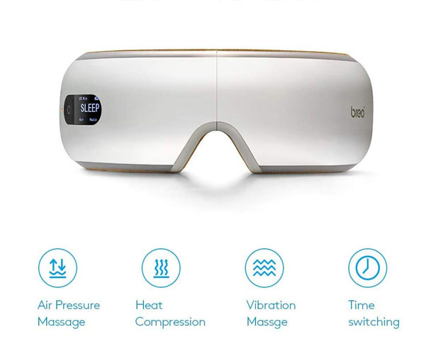 Gives Your Tired Eyes a Shiatsu Massage with Breo iSee4 Electric Portable Eye Massager