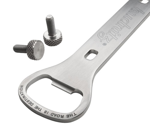 budnitz titanium beer wrench a wrench and a bottle opener for your bike tuvie. Black Bedroom Furniture Sets. Home Design Ideas