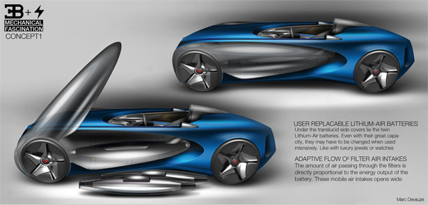 Bugatti Type Zero Concept by Devauze Marc, Anton Lawrence Victor, Emeric Baubant, Yaniss Tebaibi, and Geoffrey Texier