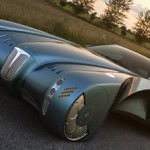 Futuristic Bugatti 57 Atlantic Concept Car by Bruno Delussu