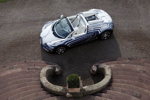 Bugatti Veyron Grand Sport L'or Blanc Features Porcelain Elements For Its Exterior and Interior Design