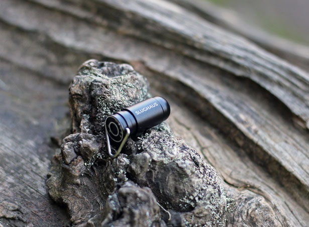 Bullet 02 World's Smallest EDC Flashlight by Slughaus