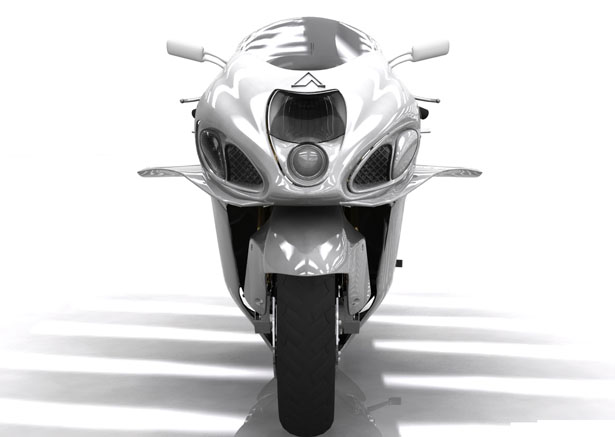 Bullet Flying Superbike Has Been Designed With Four Short Wings, a Tail Fin, and Compact Jet Engine