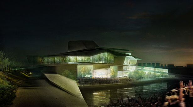 Busan Camellian Opera House by Matteo Cainer Archtiects