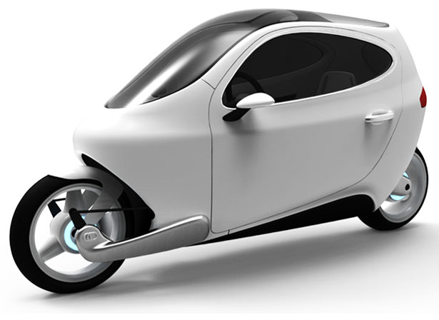 C-1 Gyroscopically Electric Motorcycle Stays Balance at A Stop