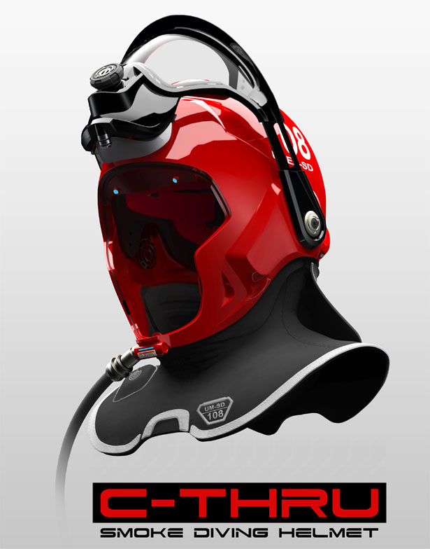 C-Thru Smoke Diving Helmet by Omer Haciomeroglu