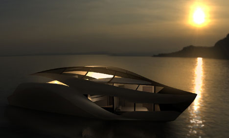 C-Wings Luxury Yacht With Glass Roof