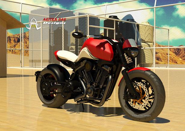 Café Cruiz Concept Motorcycle by Aritra Das