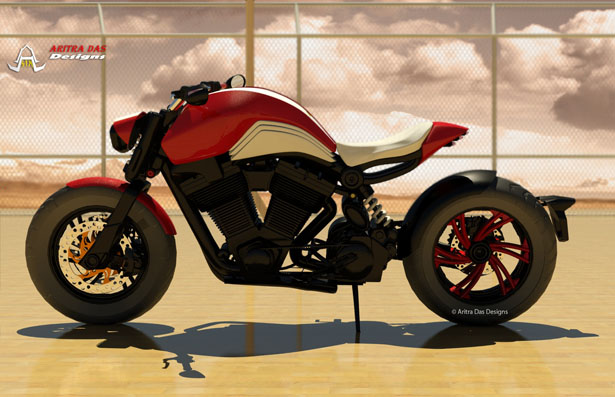 Cafe Cruiz Concept Motorcycle By Aritra Das
