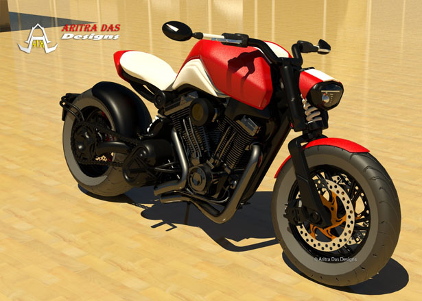 Caf 233 Cruiz Motorcycle Concept By Aritra Das Tuvie